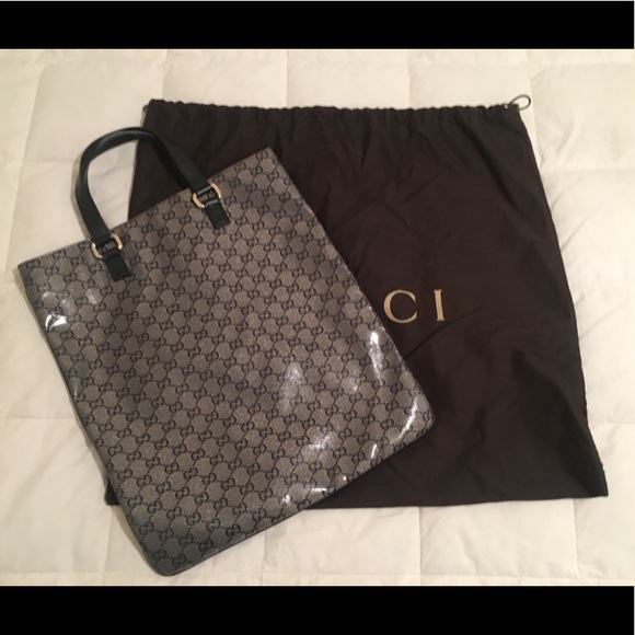 8e5f4fbc7e35 Gucci Bags | Gg Logo Metallic Crystal Portfolio Tote Bag | Poshmark